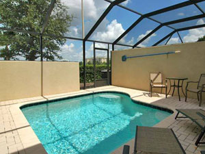 Relax 24 x 7 with your private pool and spa right outside your door